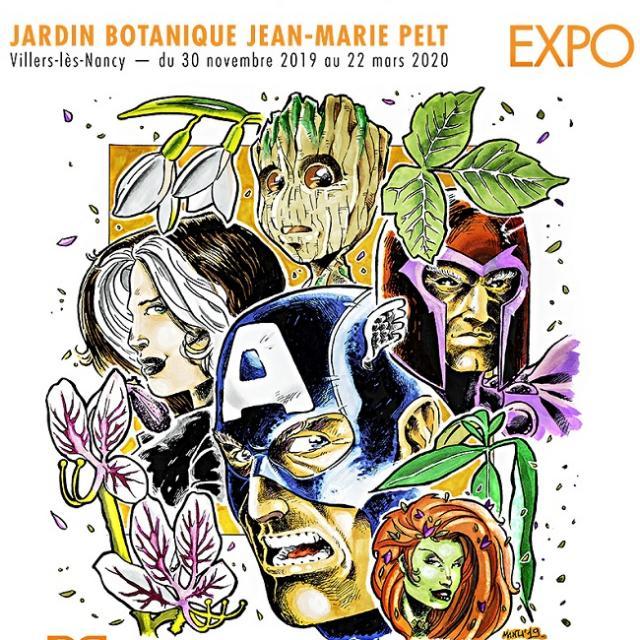 affiche exposition super héros super plantes